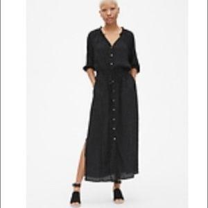 The Gap maxi dress black and white polka dots